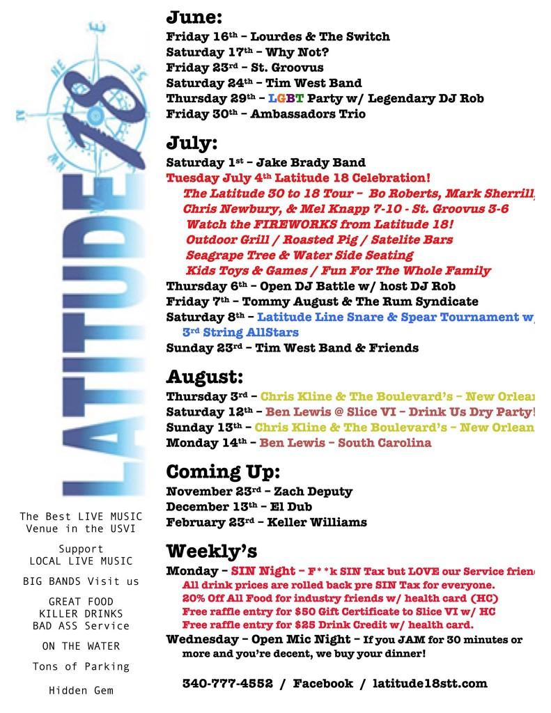 Latitude-18-STT-Summer-Music-Schedule