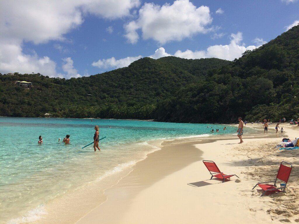 Hawksnest Beach on St. John in the Virgin Islands