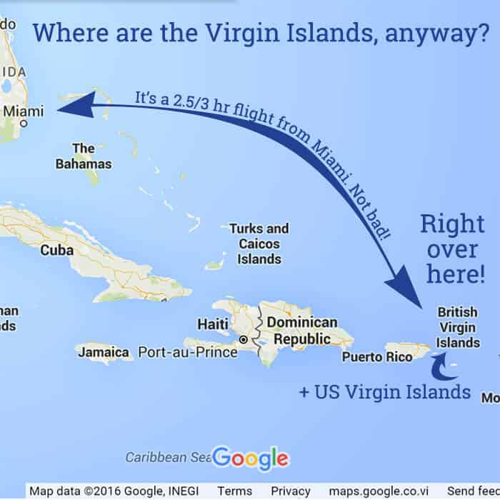 Travel To The US Virgin Islands - Map of the virgin islands british and us