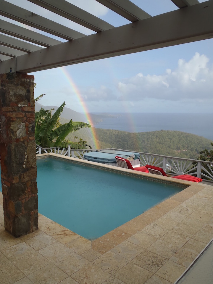 Rainbow-over-pool-Villa-equinox