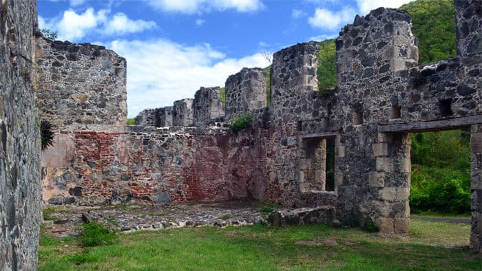 Annaberg Sugar Mill Ruins on St. John in the Virgin Islands