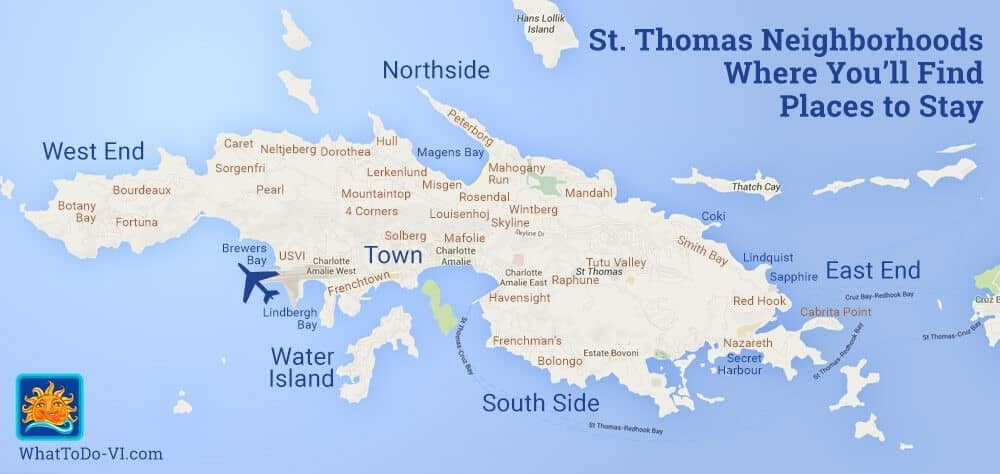 St. Thomas Vacation Rental Neighborhoods
