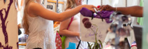 Girls shopping at Sally's Boutique Cruz Bay St. John, U.S. Virgin Islands