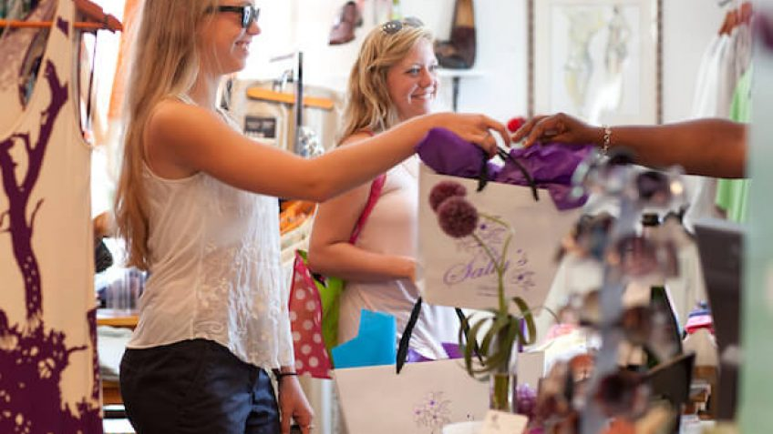 Girls shopping at Sally's Boutique