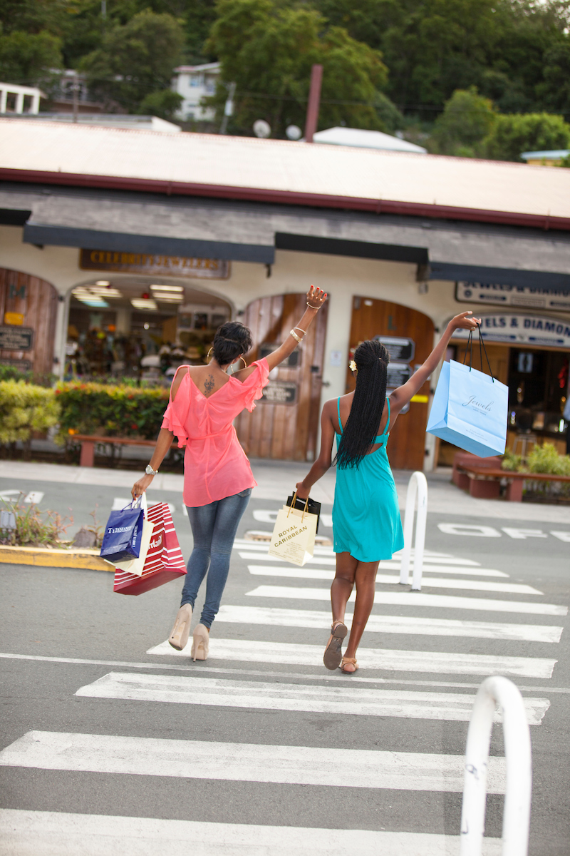 Shopping Map Charlotte Amalie St. Thomas