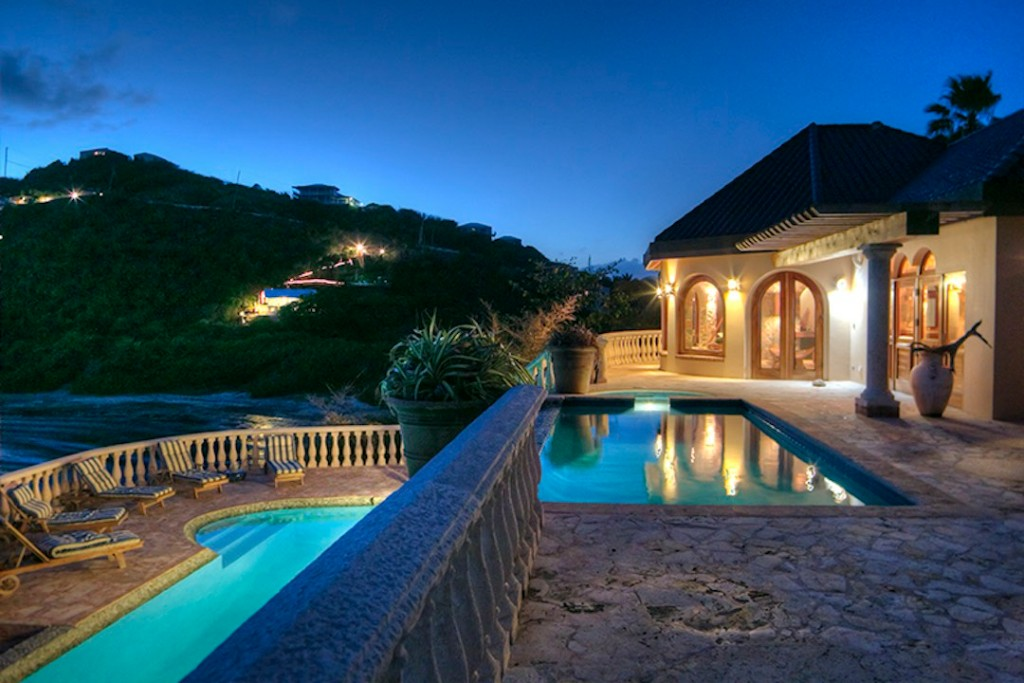 St-John-Ultimate-Villas-pool-at-night-2
