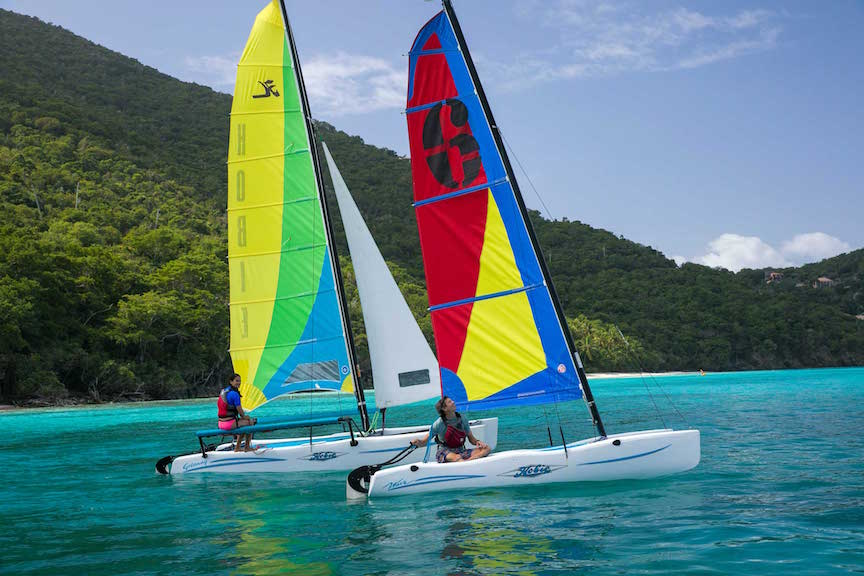 Cinnamon-Bay-St-John-Hobie_Cats_On_Water