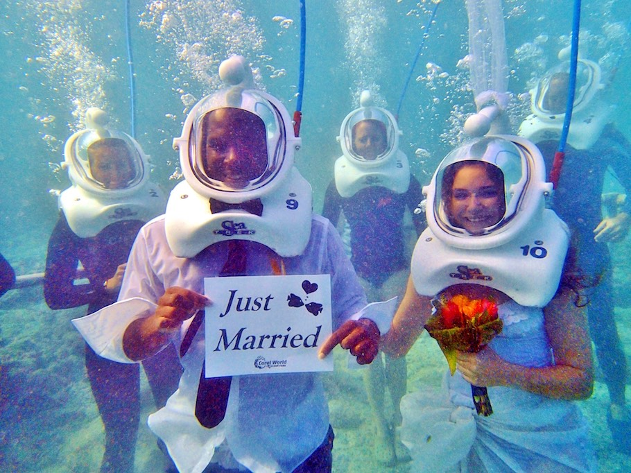 Sea-Trek-Bride-and-Groom-Just-Married-1