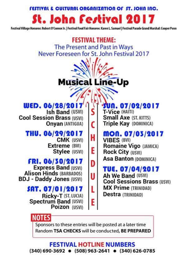 2017 St. John Carnival Music