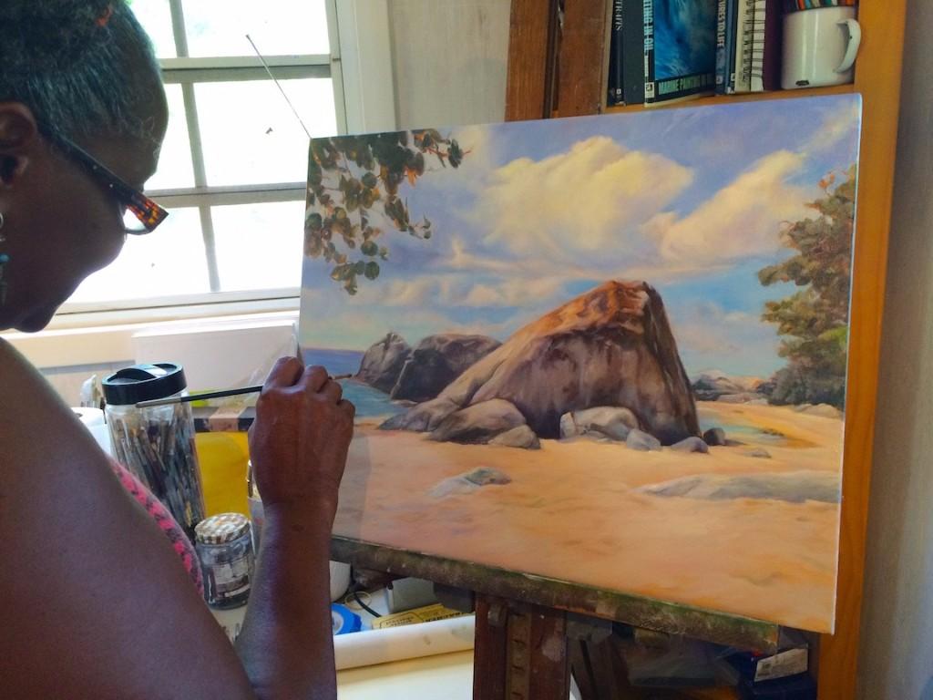 Karen-Samuels-painting-ocean-scene