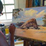 Karen Samuels painting ocean scene