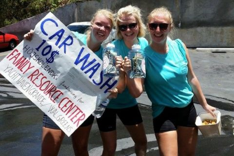 Volunteers Virgin Islands Car Wash