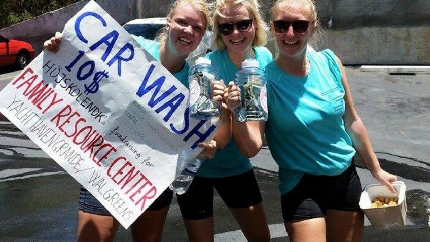 Volunteers Virgin Islands Car Wash