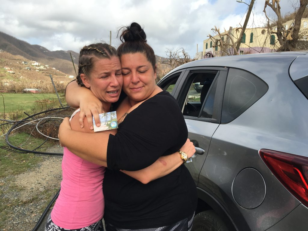 Loved ones find one another after Hurricane Irma