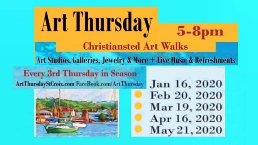 Art Thursday Wine & Cheese Walk in Christiansted