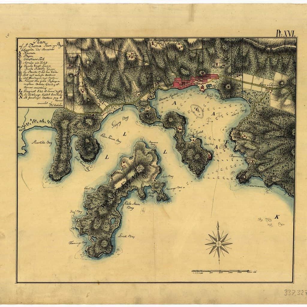 Map of St. Thomas, Courtesy of St. Thomas Historical Trust