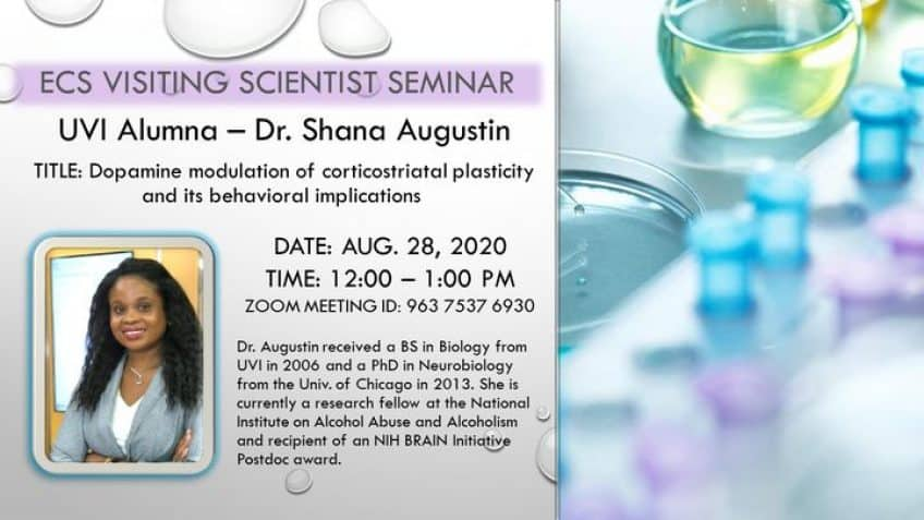 ECS Visiting Scientist Seminar – Dr. Shana Augustin